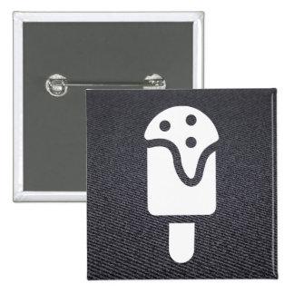 Frisch sahnt Symbol Quadratischer Button 5,1 Cm