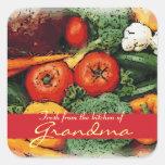 Frisch von der Küche der Gemüsekunstaufkleber