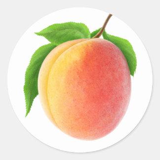 Frische Aprikose Runder Aufkleber