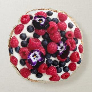 Frische Beeren-Torten-rundes Kissen