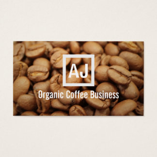 Frische Bio Kaffeebohne-moderne Geschäfts-Karte Visitenkarte