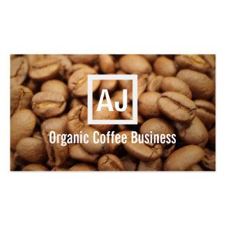 Frische Bio Kaffeebohne-moderne Geschäfts-Karte Visitenkarten