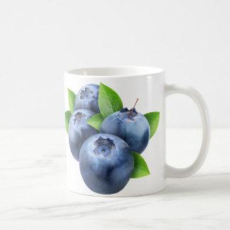 Frische Blaubeeren Kaffeetasse
