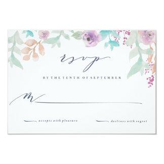Frische BlumenAquarell-Hochzeits-Antwort-Karte 8,9 X 12,7 Cm Einladungskarte