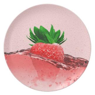 Frische Erdbeere Melaminteller