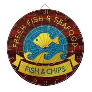 Frische Fisch-u. der Meeresfrüchte-1 Dartscheibe