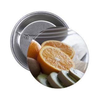 Frische Frucht für Frühstücks-Knopf Runder Button 5,7 Cm