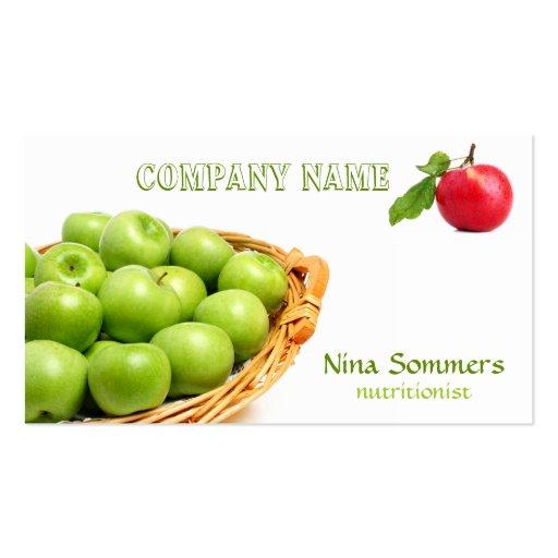 Frische Frucht-Visitenkarte