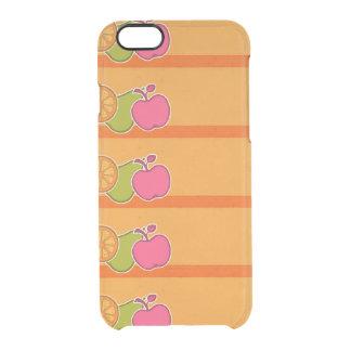 Frische Früchte orange Durchsichtige iPhone 6/6S Hülle