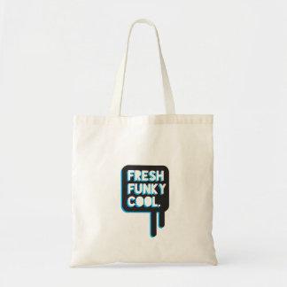 frische funky coole Taschentasche der funky Zitate Budget Stoffbeutel