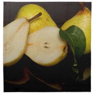 Frische grüne Birnen-Frucht Serviette