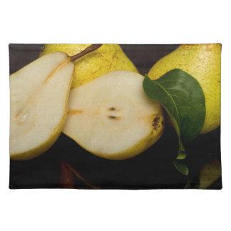 Frische grüne Birnen-Frucht Tischset