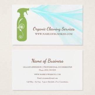 Frische grüne Spray-Flaschen-Bio Visitenkarten