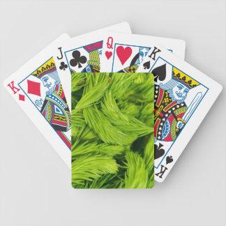 Frische grüne Sprösslinge der gezierten Bäume Bicycle Spielkarten