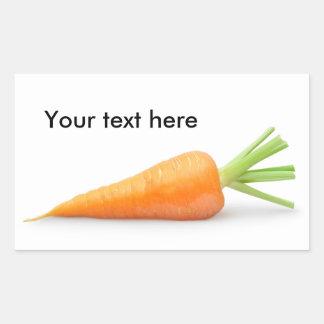 Frische Karotte Rechteckiger Aufkleber