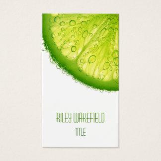 Frische Limone Scheibe-Geschäfts-Karte Visitenkarte