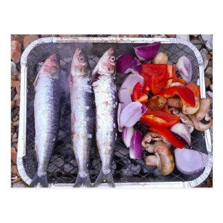 Frische Makrelen-Postkarte Postkarte