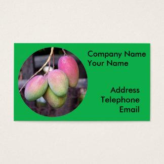 Frische Mangos und tropische Frucht Visitenkarte