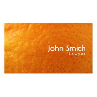 Frische orange visitenkarten