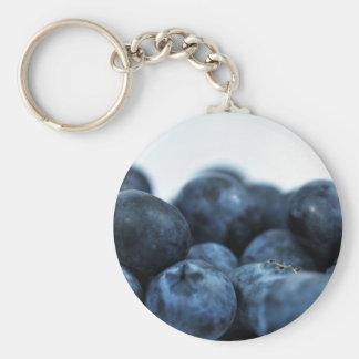 Frische reife Blaubeeren Schlüsselanhänger