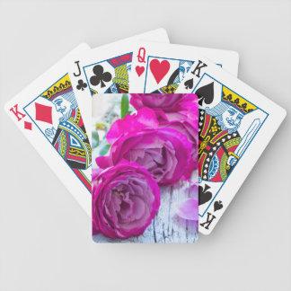 frische Rosen Bicycle Spielkarten