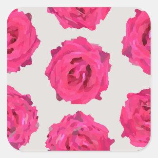 frische Rosen Quadratischer Aufkleber