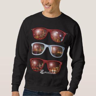 Frische schattierte Skylines-Crew Sweatshirt
