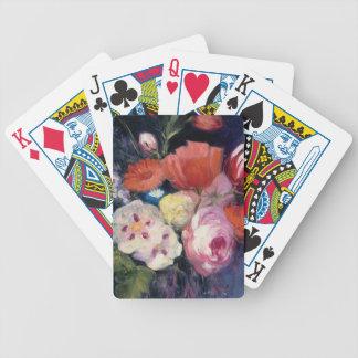 Frische Schnitt-Frühlings-Blume Bicycle Spielkarten