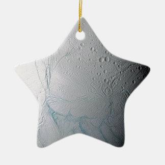 Frische Tiger-Streifen auf Enceladus Keramik Ornament