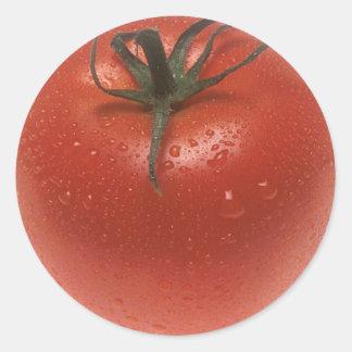 Frische Tomate Runder Aufkleber