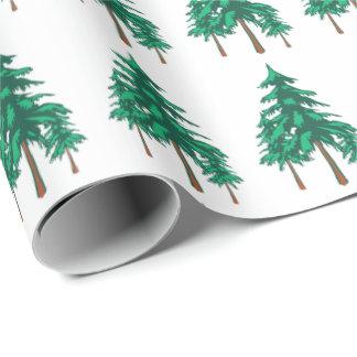 Frische WinterEvergreens Geschenkpapier