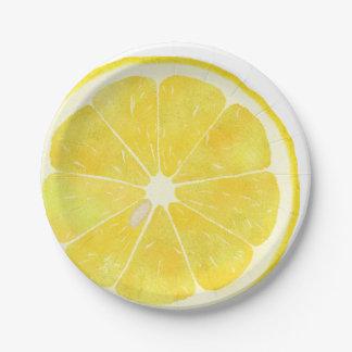 Frische Zitrone Pappteller