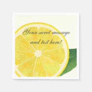 Frische Zitronen-Papierserviette Papierservietten
