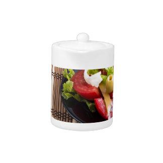 Frischer natürlicher Salat der Nahaufnahmeansicht