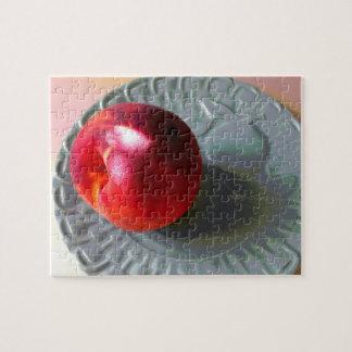 Frischer Pfirsich im Sonnenlicht Puzzle
