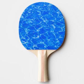 Frisches blaues Wasser Tischtennis Schläger