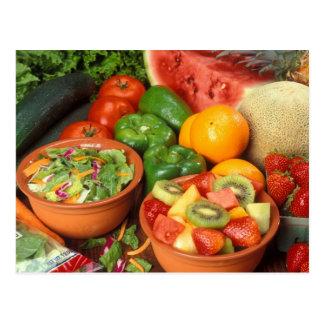 Frisches Obst und Gemüse Postkarte