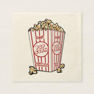Frisches Popcorn Servietten
