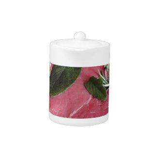 Frisches rohes gemarmortes Fleischsteak
