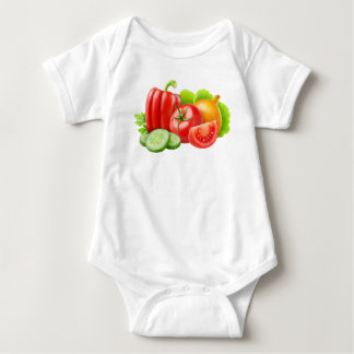 Frischgemüse Baby Strampler