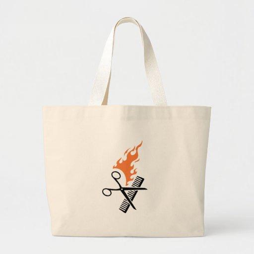Friseur auf Feuer Einkaufstasche