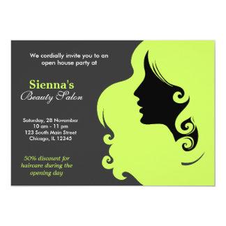 Friseur (dunkles Olivgrün) Personalisierte Einladungen