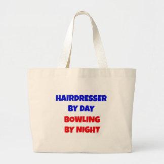 Friseur durch TagesBowling bis zum Nacht Leinentasche