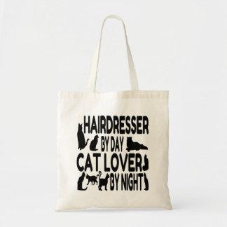 Friseur durch Tageskatzen-Liebhaber bis zum Nacht Budget Stoffbeutel