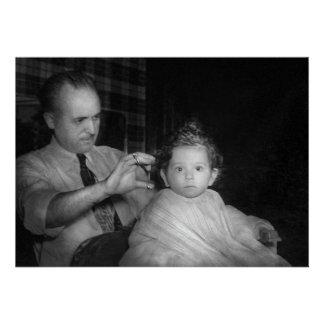 Friseur - erster Haarschnitt Ankündigungskarten