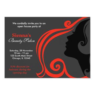 Friseur (Firebrick) 12,7 X 17,8 Cm Einladungskarte