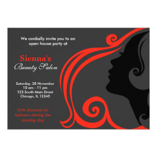 Friseur Firebrick Personalisierte Ankündigungskarten