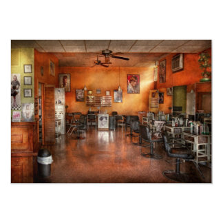 Friseur - Gewerkschaft, NJ - der moderne Salon 12,7 X 17,8 Cm Einladungskarte