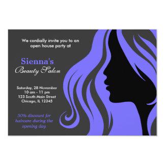 Friseur (helles Schiefer-Blau) 12,7 X 17,8 Cm Einladungskarte