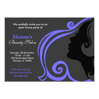 Friseur helles Schiefer-Blau Individuelle Einladungen